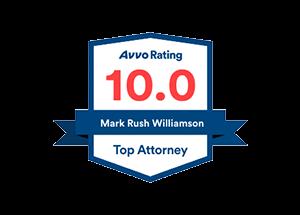 Avvo Top Attorney badge for Mark Rush Williamson